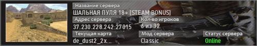 ШАЛЬНАЯ ПУЛЯ 18+ [STEAM BONUS]