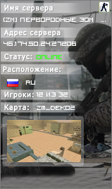 Сервер [ZM] Первородные Зомби [FreeVIP]